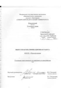 Уголовная ответственность за доведение до самоубийства СФУ thumbnail