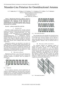 Meander-Line Polarizer for Omnidirectional Antenna